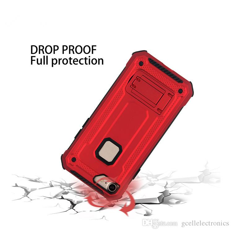 Magnetic Kickstand Holder Cell Phone Cases For Iphone 11 Pro Samsung Galaxy S20 A50 Note 10 Plus LG Aristo 3 Mobile Armor Case