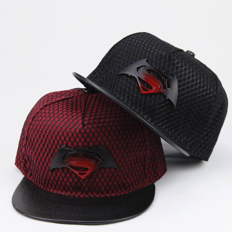c31ba9ee8ae Batman Vs. Superman Gradually Changing Iron Mark Flat Along Hip Hop Hat  Sunscreen Baseball Cap Mens Hats Baseball Cap From Sweetdream1
