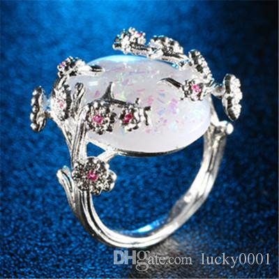 2018 New Luxury Tree of Life Australian Fortune Lucky Goddess Ring Moda Personalità Trend Estate Lady's Ring all'ingrosso