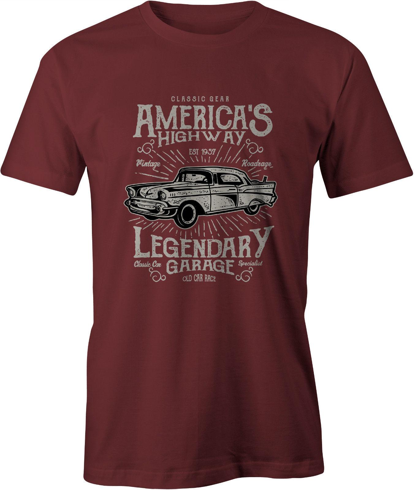 Chevy T Shirts >> America S Highway 57 Chevy T Shirt Classic Car Usa Funny Free Shipping Unisex Casual Tee Top
