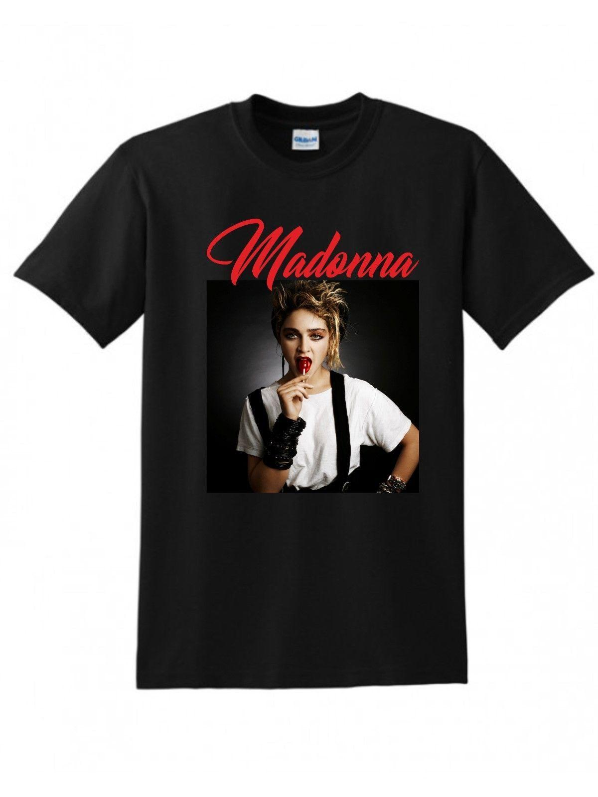 f1e82a61cf581 Madonna T-shirt,Queen of pop,1980 s,singer- free delivery