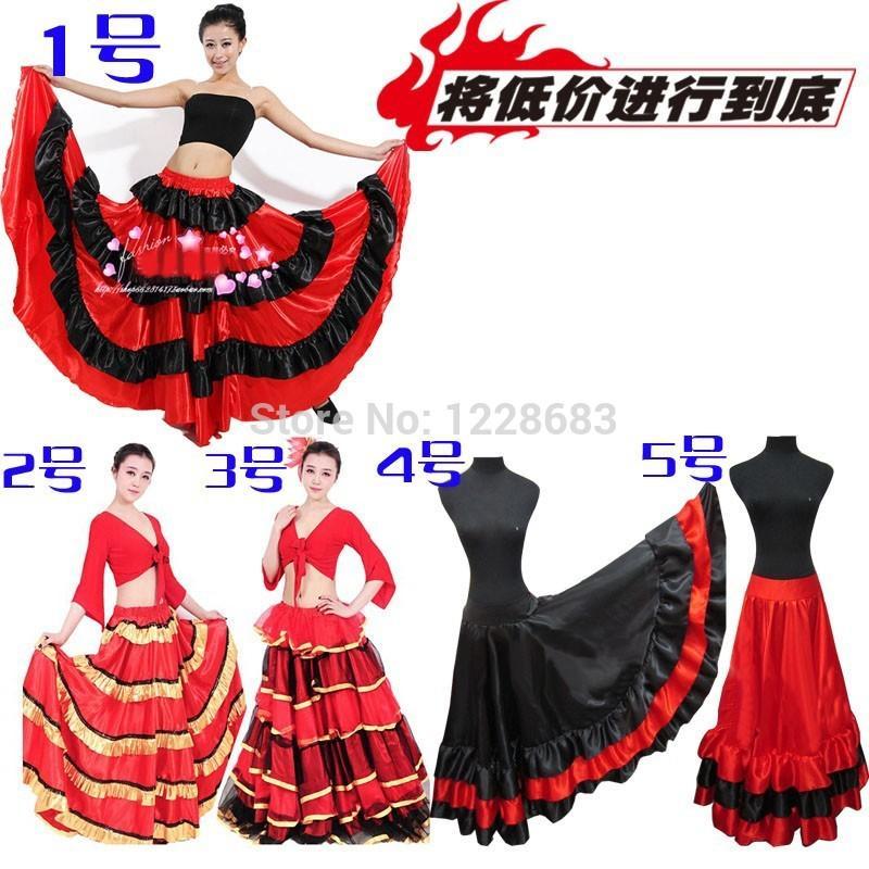 2d32cf43e 5 Estilos Baratos Negro Rojo Tallas Grandes España Bailando Disfraz  Flamenca Trajes Flamenca Niñas Vestidos Flamencos