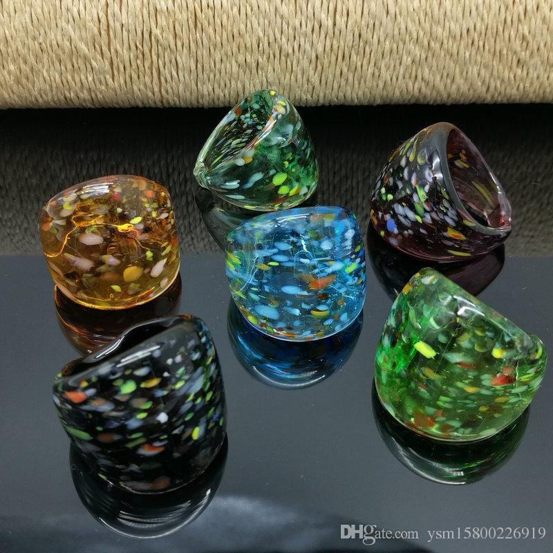 Kostenloser Versand Großhandel Hot Spot Murano Glas Murano Ring, Mode Murano Ring 17-19mm