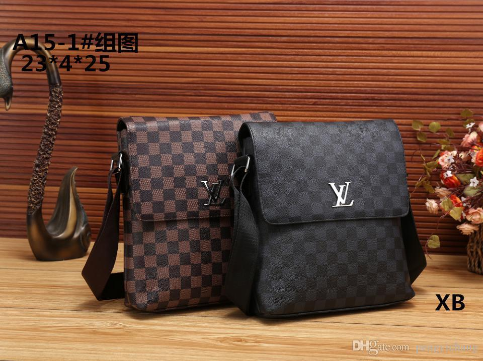 9c6ca9312e54 2018 New Famous Brand Leather Men Bag Briefcase Casual Business ...