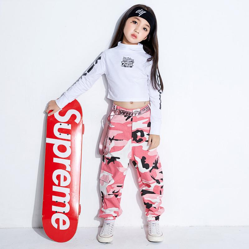 Compre Disfraces De Baile De Jazz Para Niñas Niños Hip Hop Ropa Bailando  Top Trajes De Danza Moderna Para Niños Camo Pantalones De Manga Larga  DN1541 A ... b6627437f64