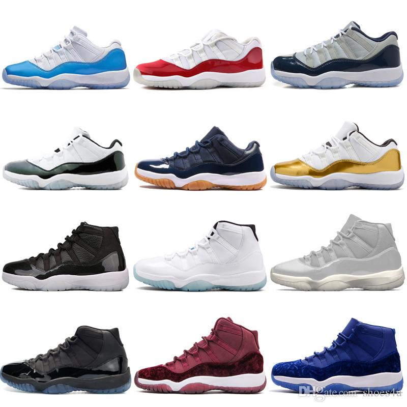 1f3863d85f0 Cheap NEW 11 Low White Red Navy Gum Basketball Shoes Bred Georgetown Space  Jam Citrus GS Basketball Sneakers Women Men 11s Low Athletic XI Loafers For  Men ...