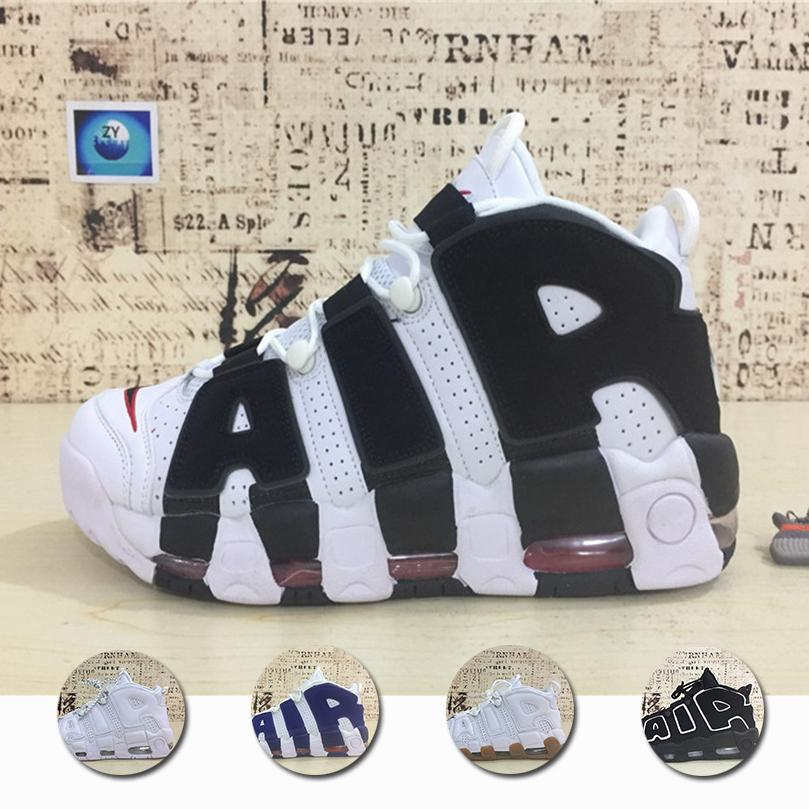 2018 Air More Uptempo Basketball Shoes Men And Women Comfortable High  Quality Athletic Black Grey White Oreo Scottie Sneakers Uptempo Uptempo  Shoes ... 89379027b8