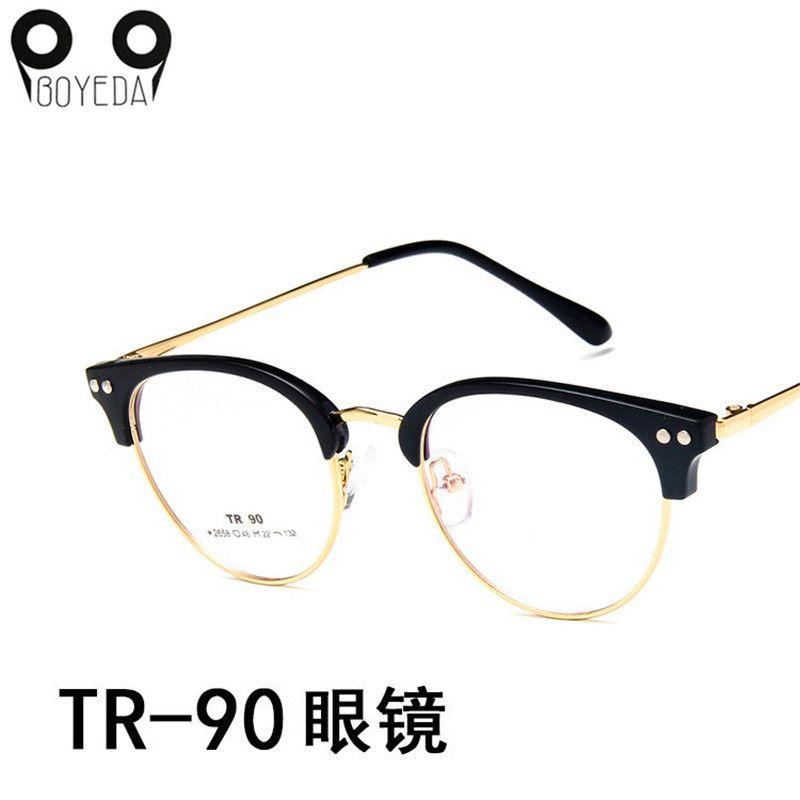 4e3f4f489885e Compre Boyoy Nova Cat Eye Óculos De Armação Das Mulheres Óculos De Metal  Designer De Marca Quente Óptico Retro Moda Óculos Tr90 Espetáculo De Uline