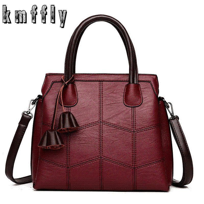 0c62ffb9cac9 KMFFLY Brand Women Bags Genuine Leather Bags 2018 Fashion Women Handbags  High Quality Sheepskin Shoulder Bags Ladies Sac A Main Purses For Sale  Reusable ...