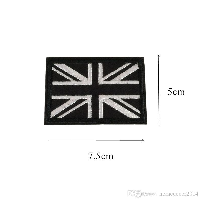 Embroidered Patches Flag Sewing Iron On National USA UK Badge For Bag Jeans Hat Appliques DIY Sticker Decoration Apparel Accessories