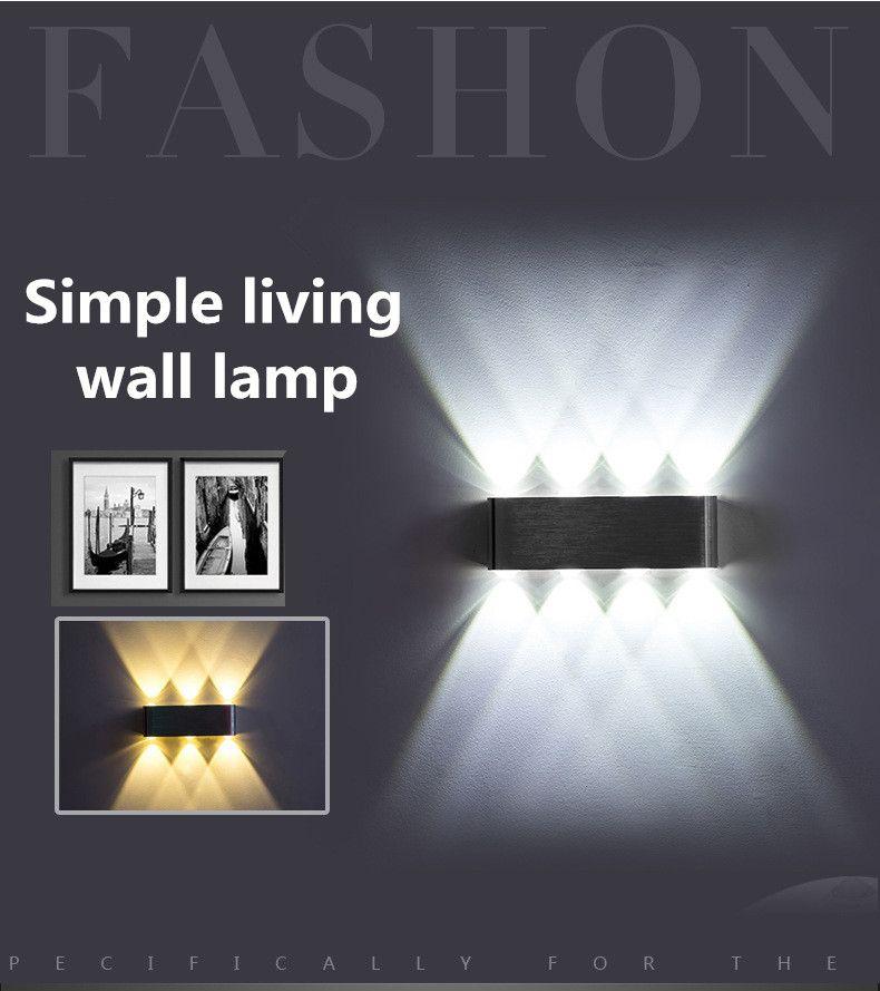 Başucu LED Duvar Işıklar Koridor Koridor Merdiven LED Duvar Işıklar Modern Minimalist Kişilik İç Duvar Işıklar