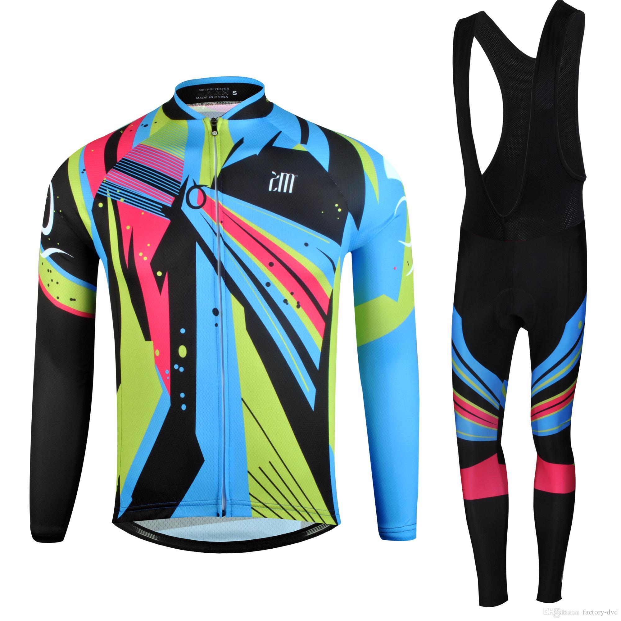 New Cycling Jersey Long Sleeve Racing Bike Cube Cycling Clothing MTB ... 425a3daea
