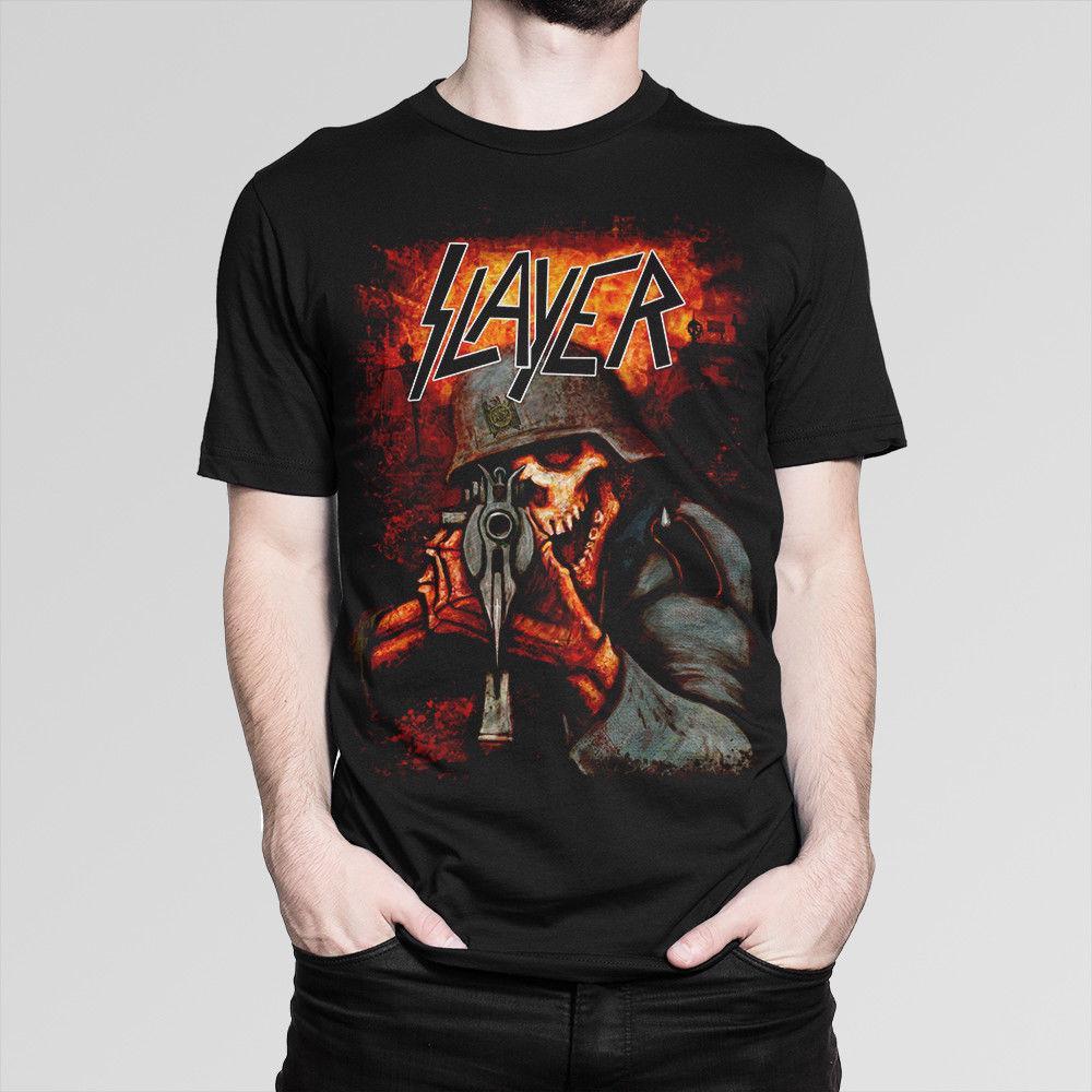 Thrash Mujer Slayer ArtDe Larga MetalManga Camiseta Para 7y6gYbfv