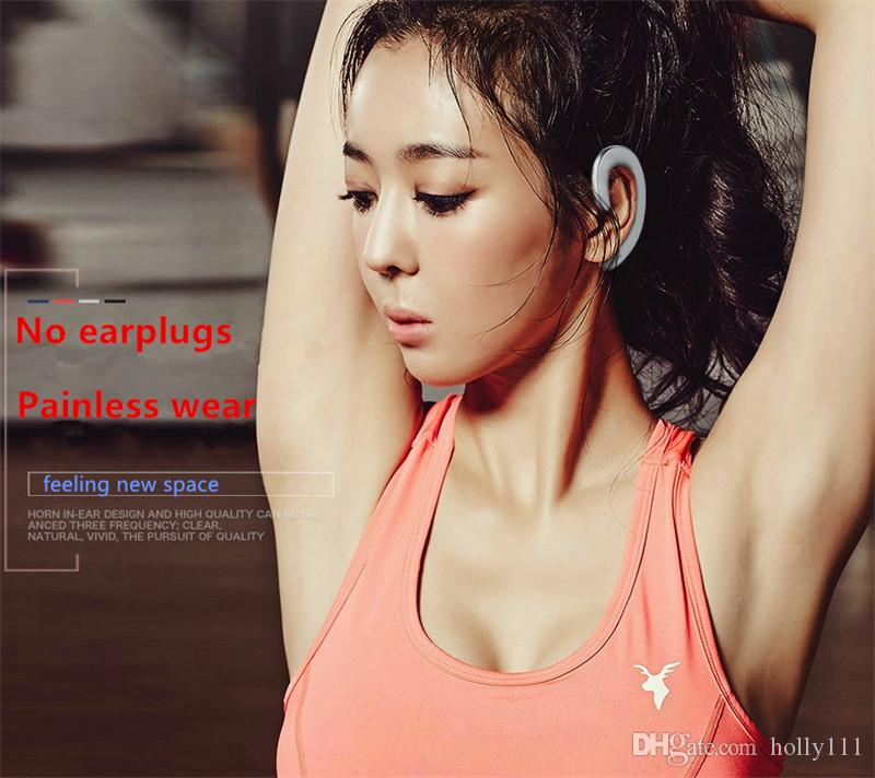 REMAX T20 Mini Wireless Bluetooth Earphone with Mic earhook headphone Music Earbud Noise Canceling for phone DHL