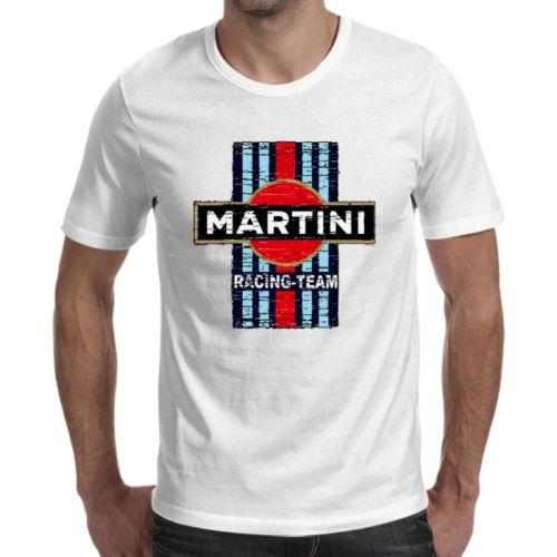 41c08e11446 Vintage Martini Racing Team Logo White T Shirt Cool Fashion T Shirts Print  Shirt From Buysend