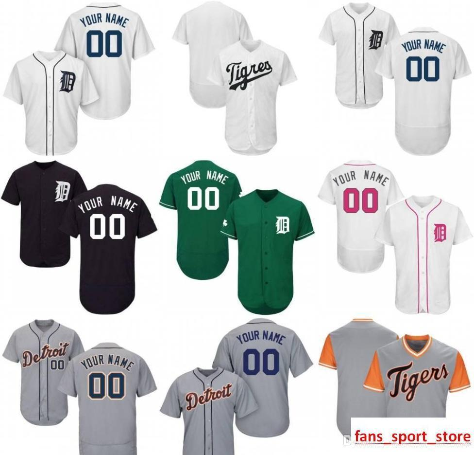 2233d6a32 2019 2019 Custom Mens Womens Youth Tigers Baseball Jerseys White Navy Grey  Blue Red Stitched Any Name Any Number Flex Base Cool Base Jersey From  Heimei shop ...