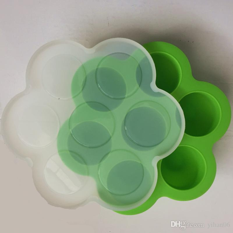 16.0*16.5*4.5cm Silicone Egg Bite Mold Baby Food Storage Container Fruit Ice Cube Ice Cream Maker Kitchen Bar Drinking Accessories