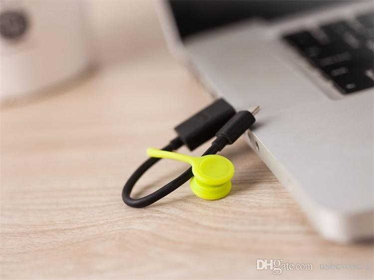 다기능 관리 실리콘 이어폰 헤드폰 코드 와인 더 USB 케이블 홀더 스트랩 마그네틱 조직자 수집 다채로운 클립