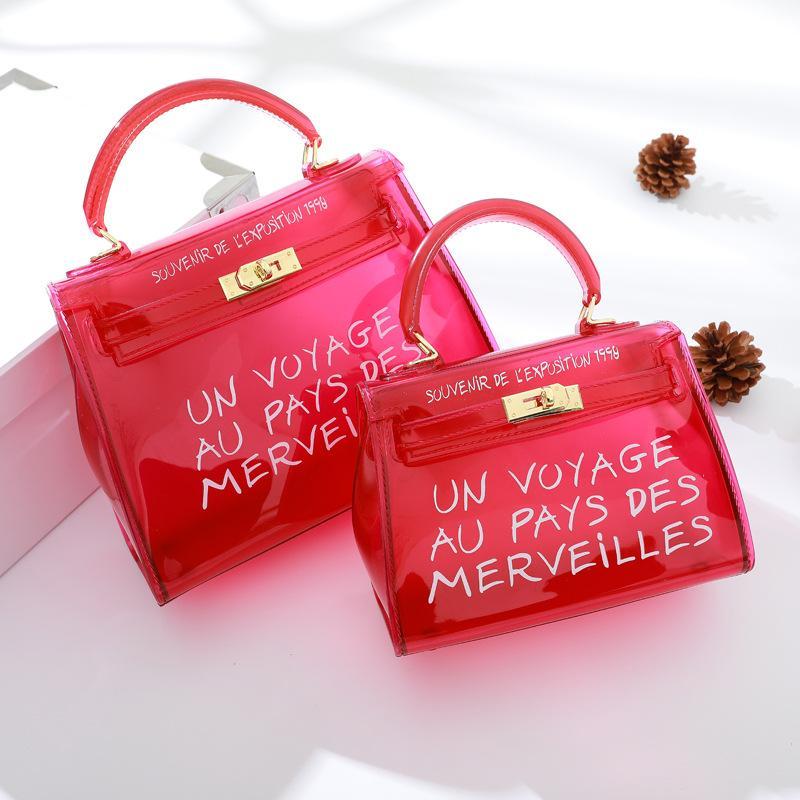4b4de40e3d Acheter DSAKGTE Jelly Women Transparent Sac Clear Purse PVC Bonbons Couleur  Dames Sacs À Main 2018 Nouveau Designer Crossbody Bag Clear Handbags De  $24.58 ...