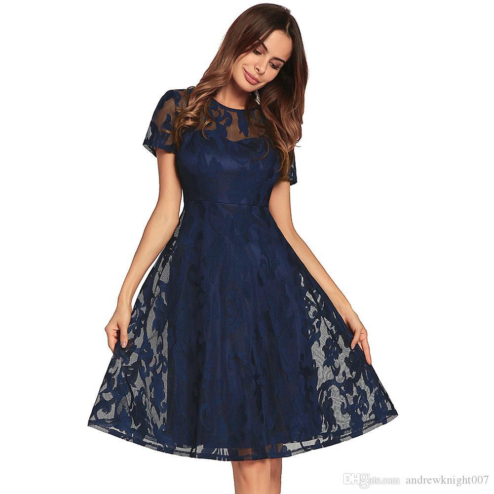 Grosshandel Frauen Ol Kleid Retro Kleid Rockabilly Swing Hochzeit
