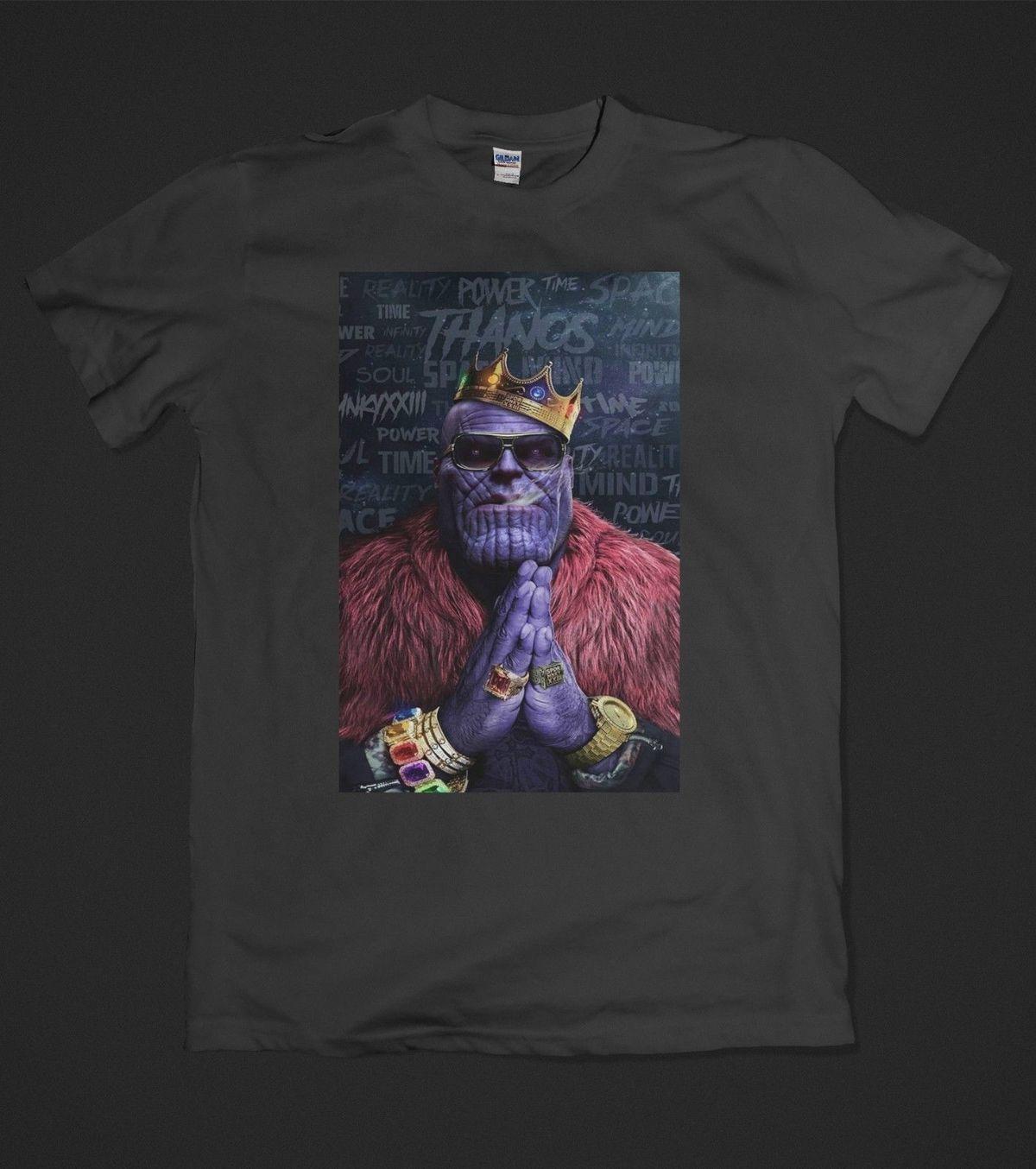 a9e86a6e8 Compre Thanos King The Avengers Infinity War Notorious BIG G Camiseta De  Algodón S XXL A  11.63 Del Customteeshirt