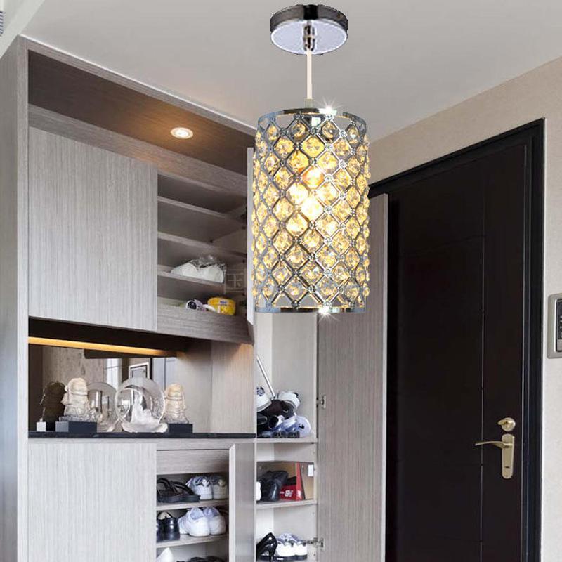 Moderno y elegante forma de cilindro luces colgantes de cristal lámparas suspendidas lustre cristal para comedor dormitorio bar decoración para el hogar