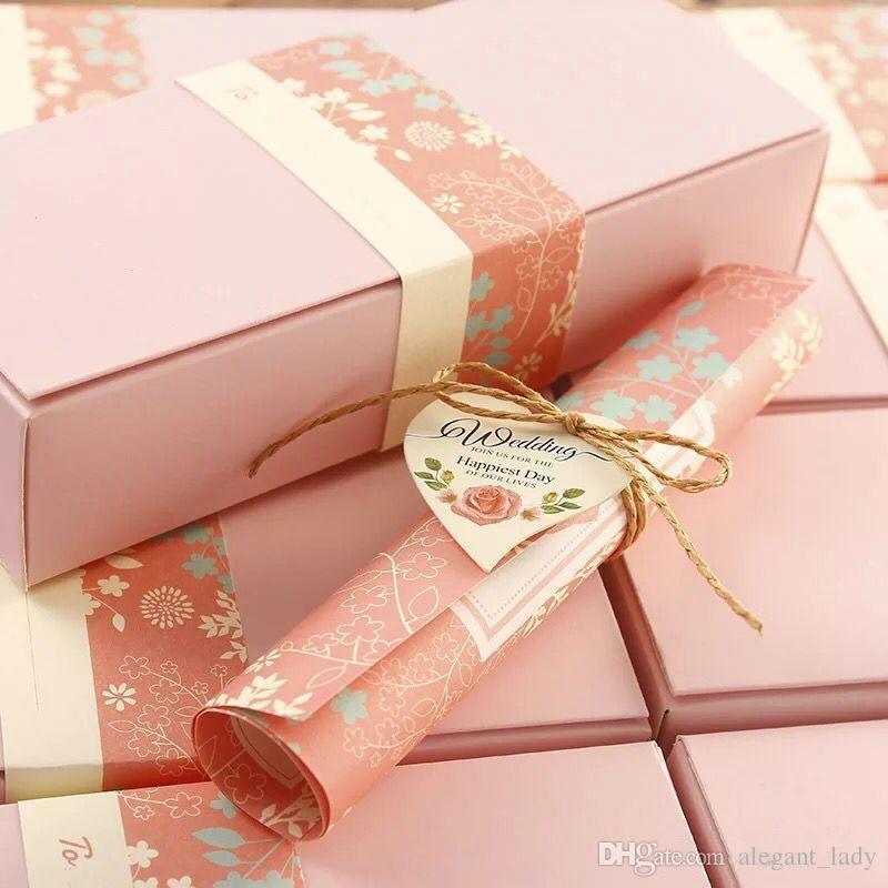 2018 Papel Clássico Europeu Corte A Laser blush convites de Casamento cor de rosa Cartões Convite Personalizável com Folha Interna em branco e caixa