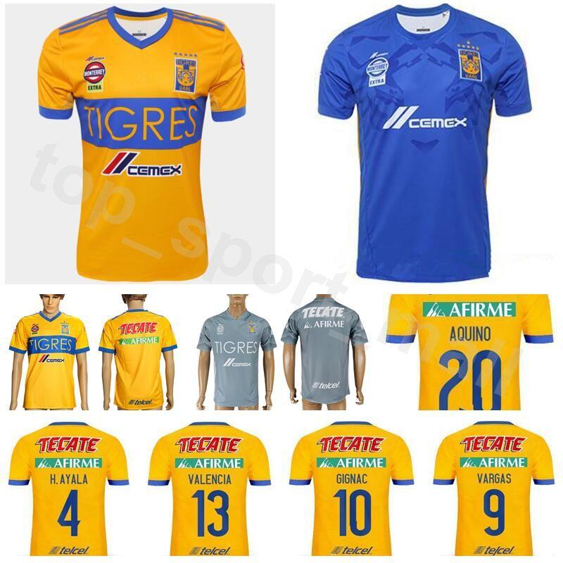 2019 18 19 Season Soccer FC Tigres UANL Jersey Men 9 VARGAS 10 GIGNAC 13  VALENCIA MEXICO Club LIGA MX Football Shirt Kits Yelloiw From  Dickssportinggoods 148d04dd2