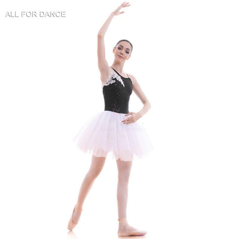 be653d34c46 Compre A18711 Nueva Llegada Negro Blanco Ballet Tutu Mujeres Chica Traje De  Ballet Tutu Bailarina Traje De La Danza A  66.82 Del Wulana