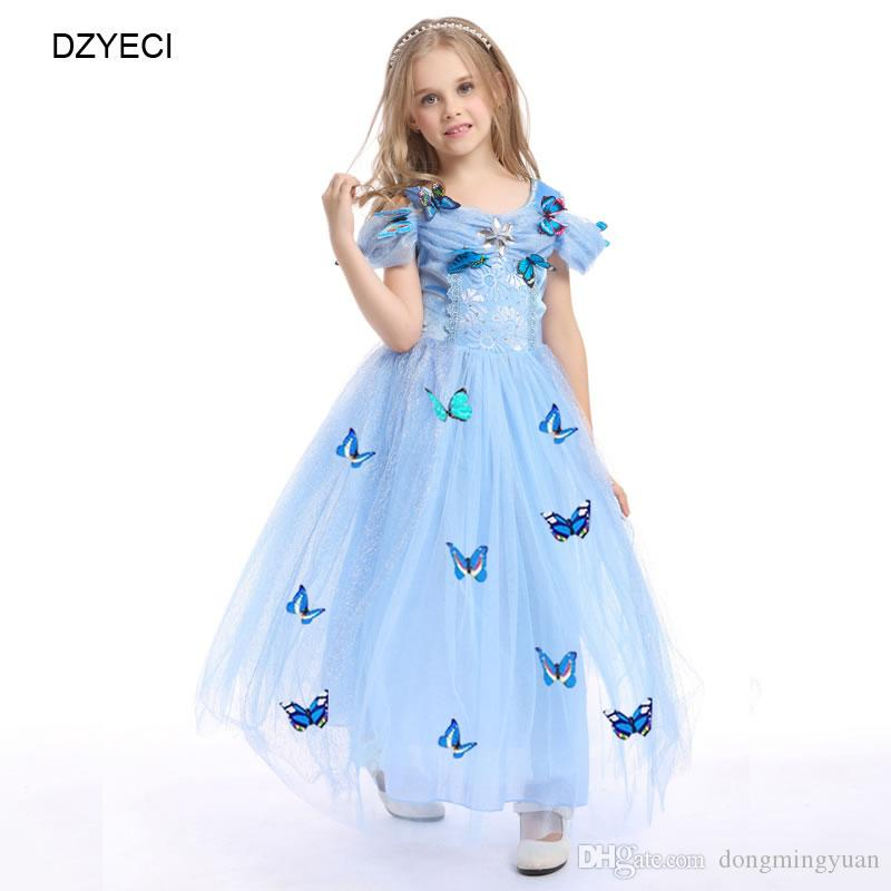 2279114fb884 Elegant Cinderella Costume For Girl Dresses Carnaval Children Bow Lace  Party Princess Dress Kid Prom Pageant Bridesmaid Frock Bridesmaid Dress Kids  Gown ...