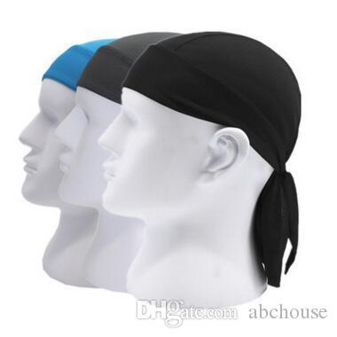 Women Men Sports Cap Quick Dry Pure Cycling Cap Head Scarf Summer ... dc3b72fc99e2