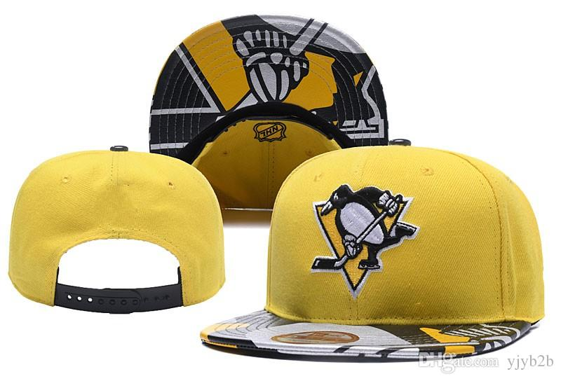 2018 New Yellow Color Hockey Snapback Hats Embroidered Team Logo ... 5b980f3b5696