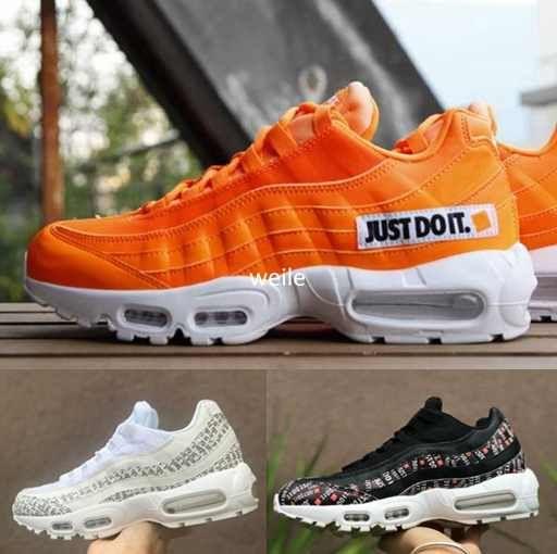 c2176016352 2018 New 95 OG Just Do It SE Camo Black White Orange 95s Mens ...