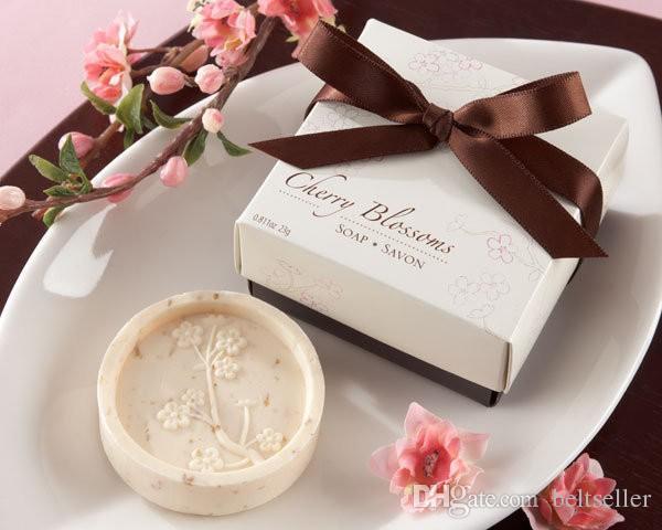 Creative Heart Shaped Mini Handmade Soap With Thank You Card Wedding
