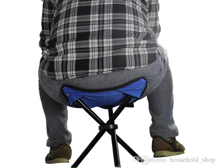 2018 Outdoor Camping Fishing Beach Barbecue Stool Triangulation Folding Chair Portable Light Stool New Arrival