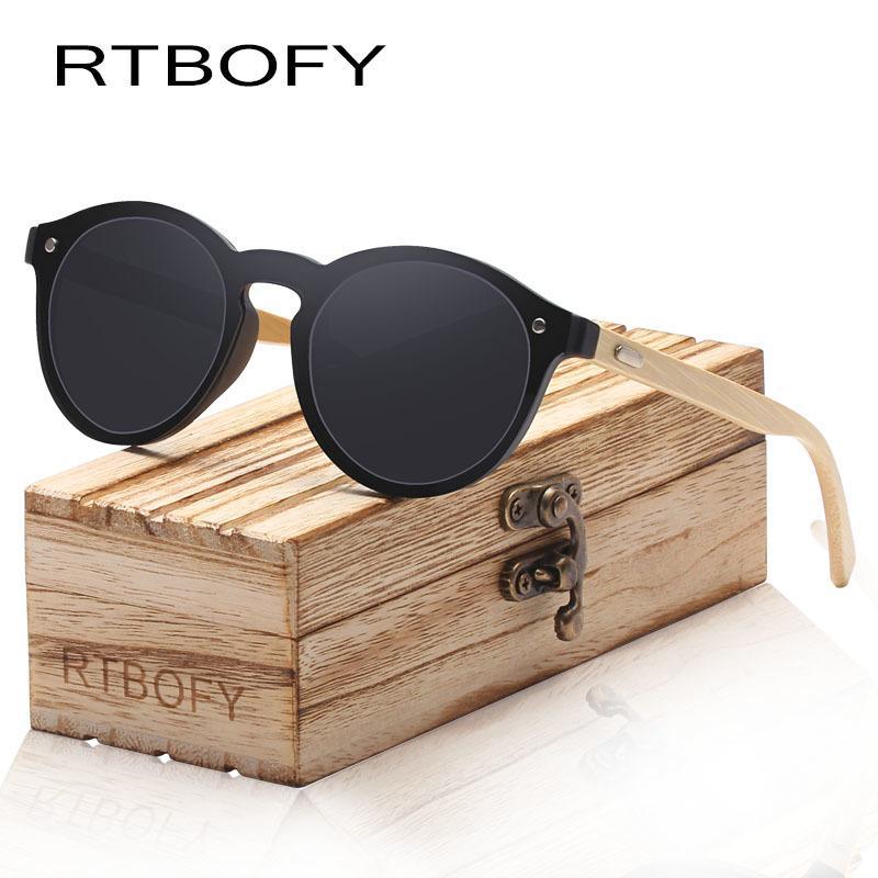 2b97fc2d86 Compre RTBOFY Gafas De Sol De Madera Para Mujeres Hombres Marco De Bambú  Gafas Hechos A Mano Anteojos De Madera Tonos Moda UV400 Protección Regalo  Gratis A ...