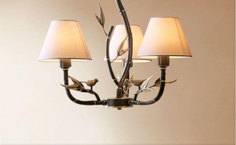 Moderne Lampen 8 : Großhandel moderne alle kupfer vögel kronleuchter