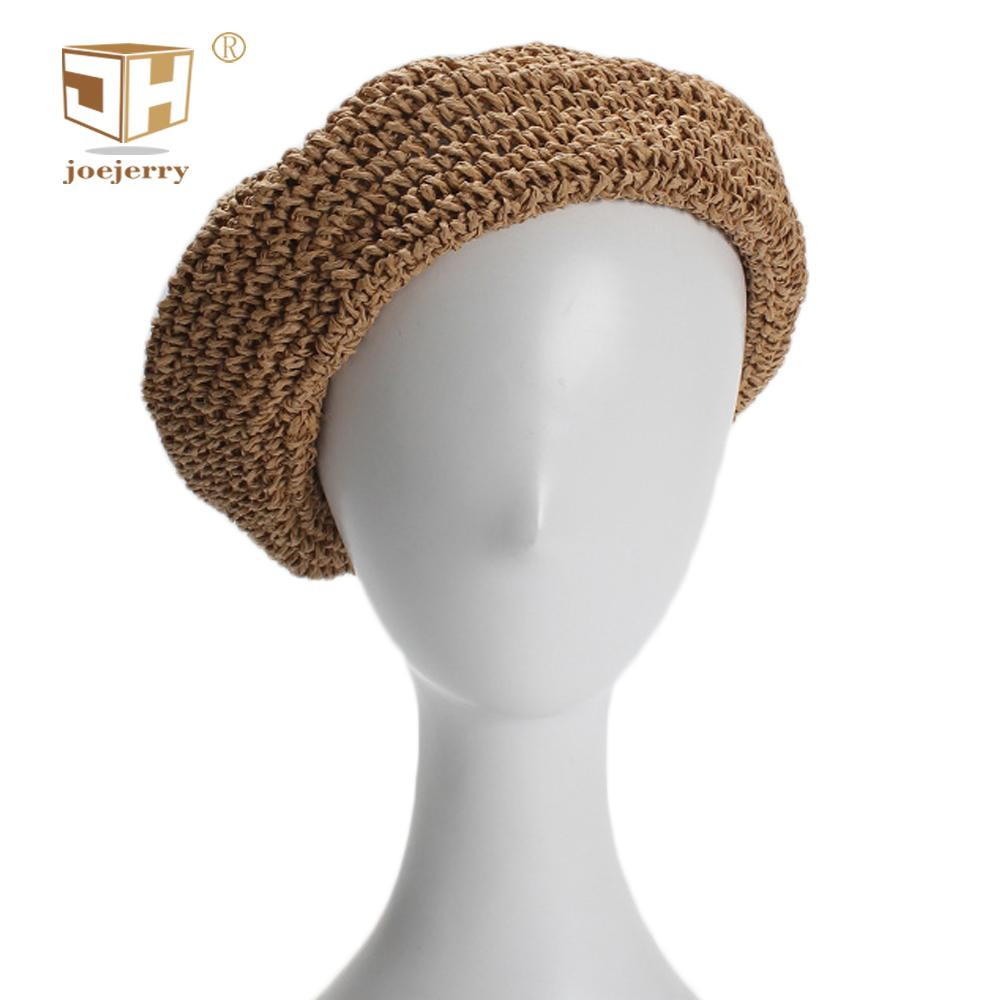 bc16c55b2f558 2019 JOEJERRY Womens Straw Beret Summer Hats Vintage Beret Cap French Hat  Ladies Boina Feminina High Quality From Zhijin
