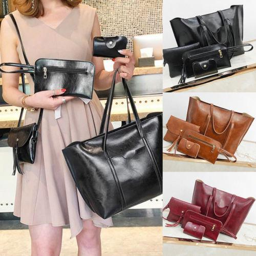 48f2f6a27cf Women Travel Bags Lady PU Leather Handbag Shoulder Bags Tote Purse  Messenger Satchel Set Leather Bags Laptop Bags For Women From Ipinkie,   22.33  DHgate.Com