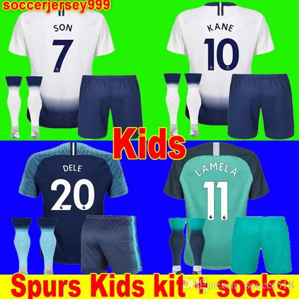 375da761e Thailand Spurs KANE Soccer Jersey Kids Kit 2018 2019 LAMELA ERIKSEN ...