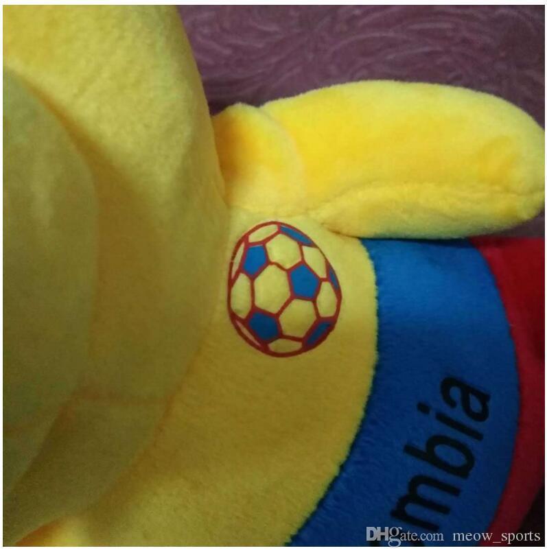 2018 Coppa del mondo 21 cm peluche bambole farcito licenza peluche orso giocattolo calcio fan calcio souvenir regalo bambino regali bambini