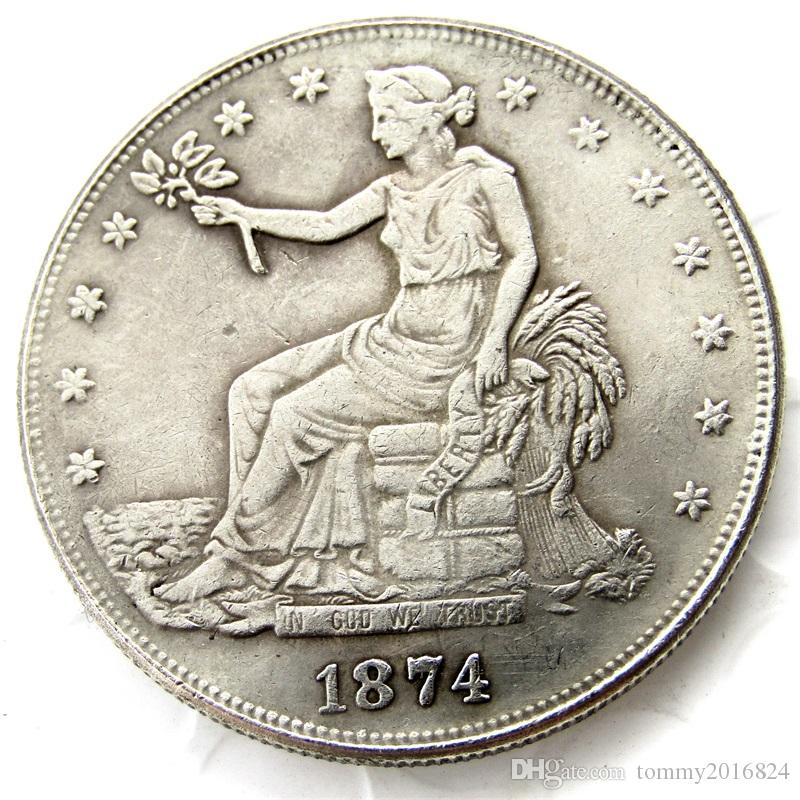 US Coins 1874cc Trade Dollar Copy Coins replica coins home decoration  accessories