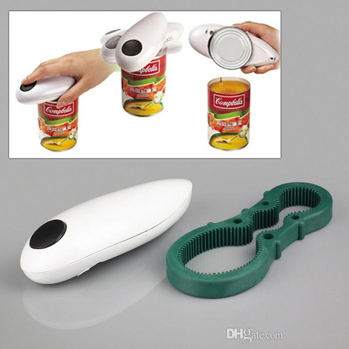 PARTY Can Opener One Touch Jar Openers Kitchen Helper Tool 2 in 1 Multifunction Opener Mini One Touch Automatic Electric Can Tin Bottle