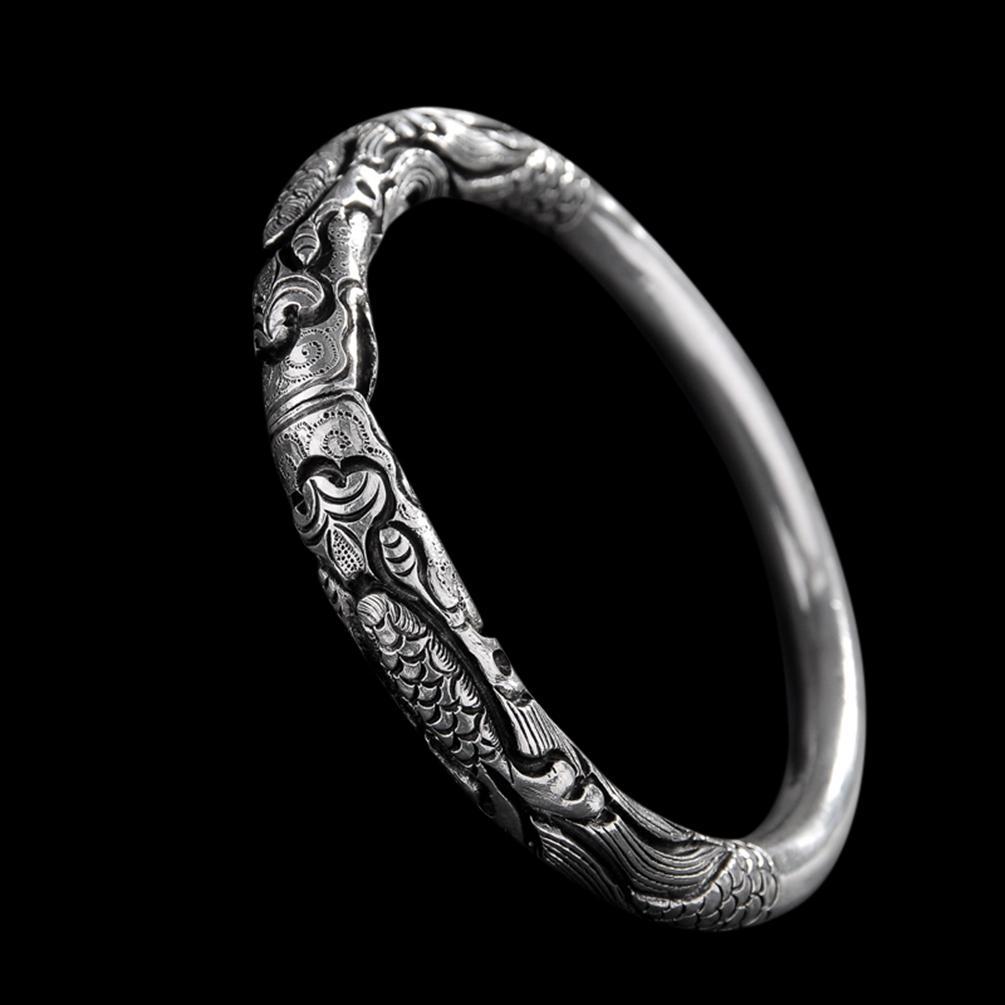 Großhandel Feine 999 Manschette Armband Hohe Reinheit Sterling Silber  Schmuck 100% Handgefertigte   121 Modeschmuck Kostenloser Versand Von ... ef5b26f2fd