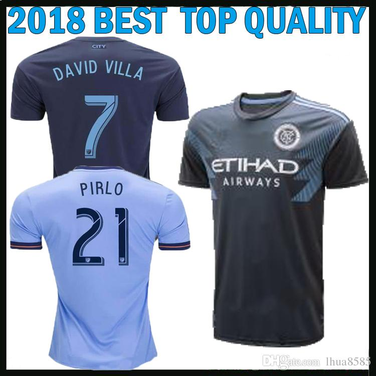 b379379b158 2019 2018 2019 New York City MLS Soccer Jerseys Football Shirts 18 19 NYC  Home Away PIRLO Camiseta De Futbol DAVID VILLA MAGLIE Football Uniform From  ...