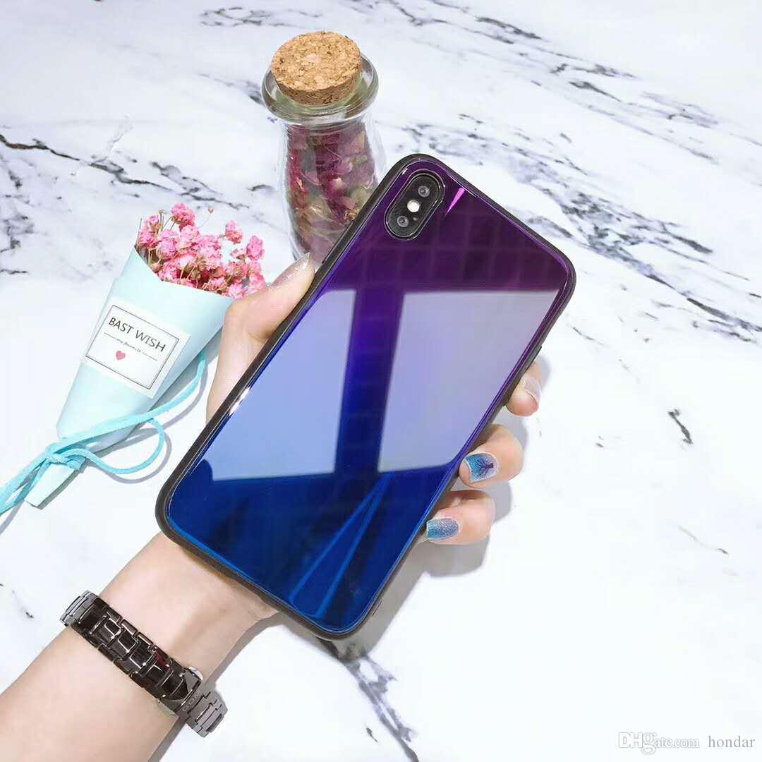 Premium Qualität Für Iphone 7 Gradient Fall Farbe Aurora Handyhülle Für Samsung S8 S9 Handytasche ändern