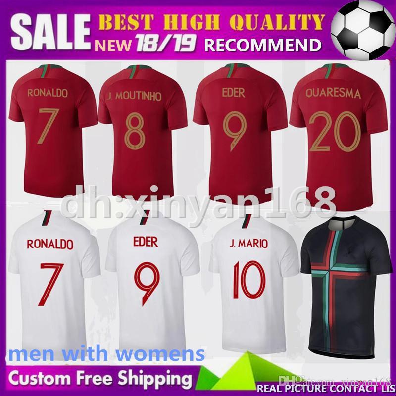 Men Women 2018 2019 CRISTIANO Soccer Jerseys World Cup 18 19 QUARESMA NANI  EDER Football Shirt Size S XXXL UK 2019 From Xinyan168 81cbeddd4d