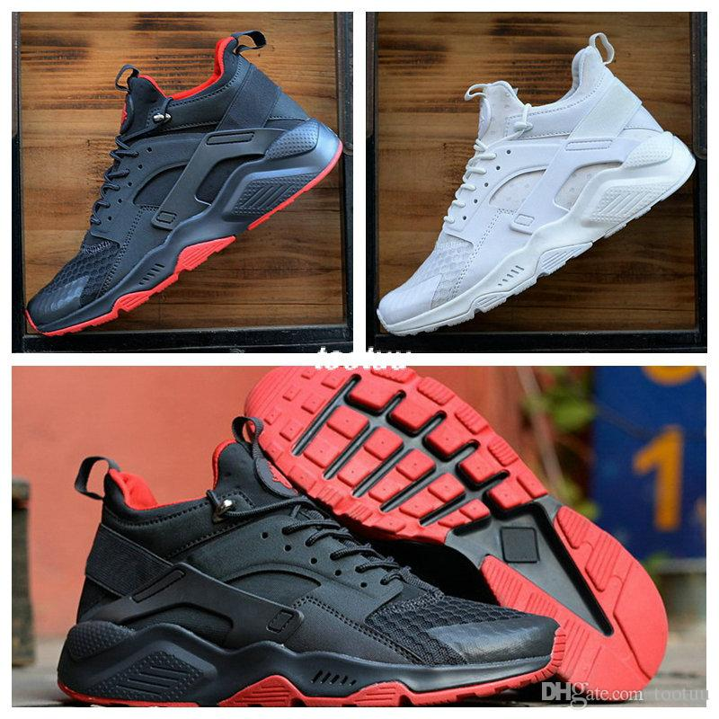 pretty nice 871e4 7cd4e 2019 2018 Huarache 6 X Fragment Design MID Leather High Top Huaraches Ultra  Running Shoes Men Women Huraches Designers Sneakers Hurache Size 7 11 From  ...