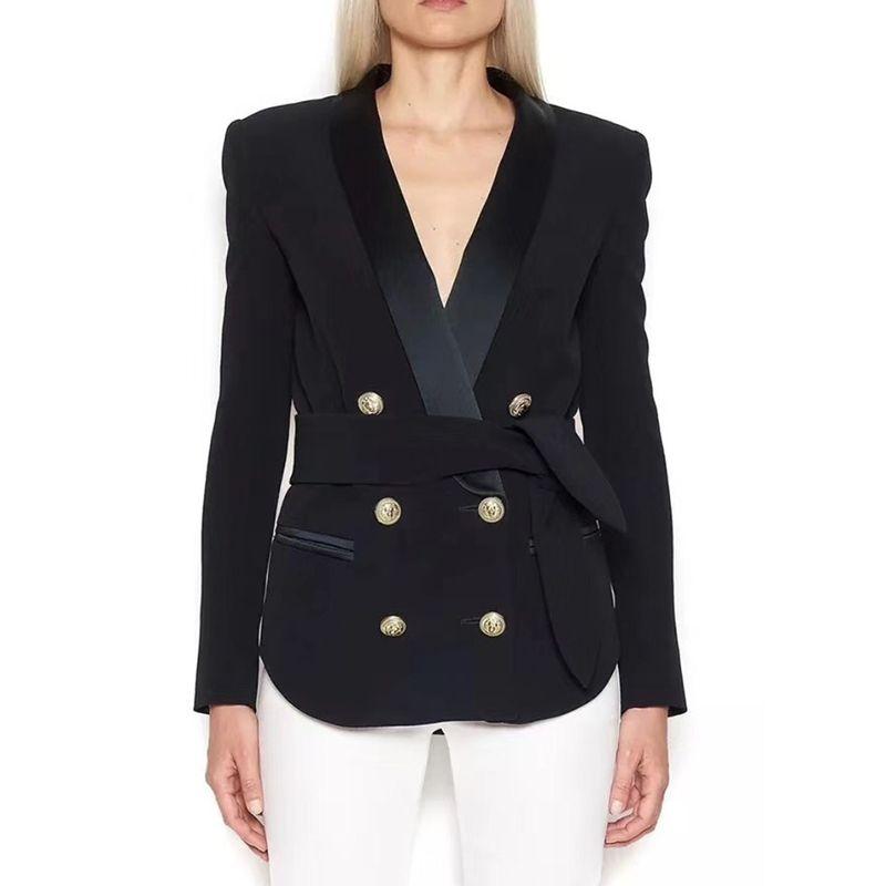 2019 Neuestes Design Mode Frauen Ol Lange Hülse Dünne Taste Business Blazer Jacke Mantel Outwear Anzüge & Sets