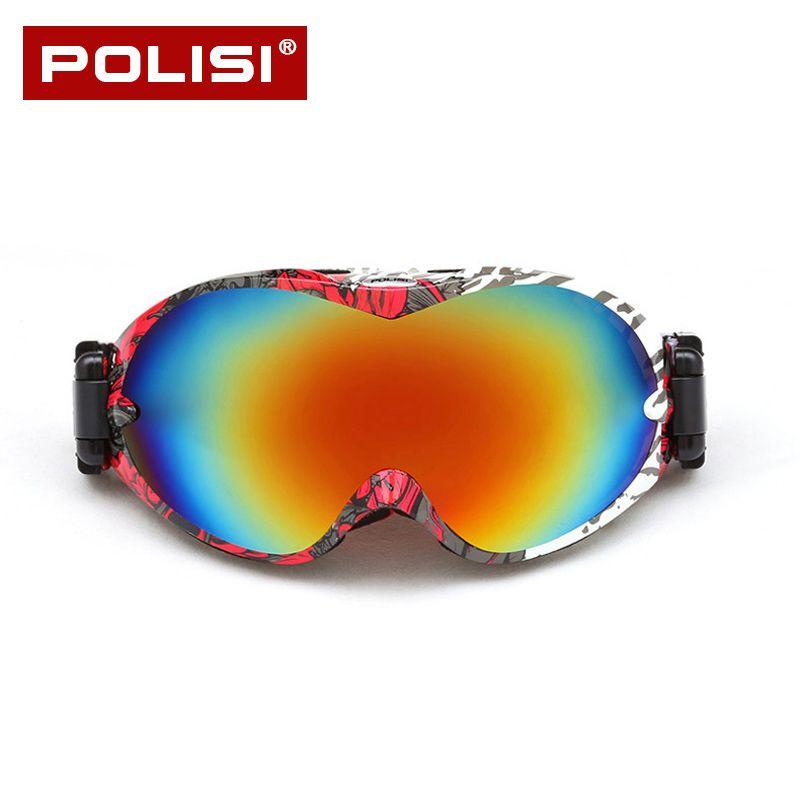 7b8803bb73a7 2018 POLISI Skiing Eyewear Ski Glasses Goggles Men Snowboard Goggles ...